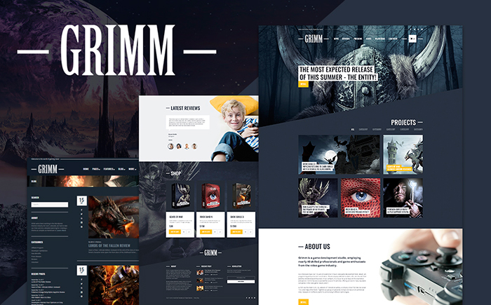 Game Development Studio WordPress Theme