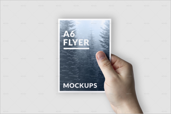 A6 Flyer Mockup Design