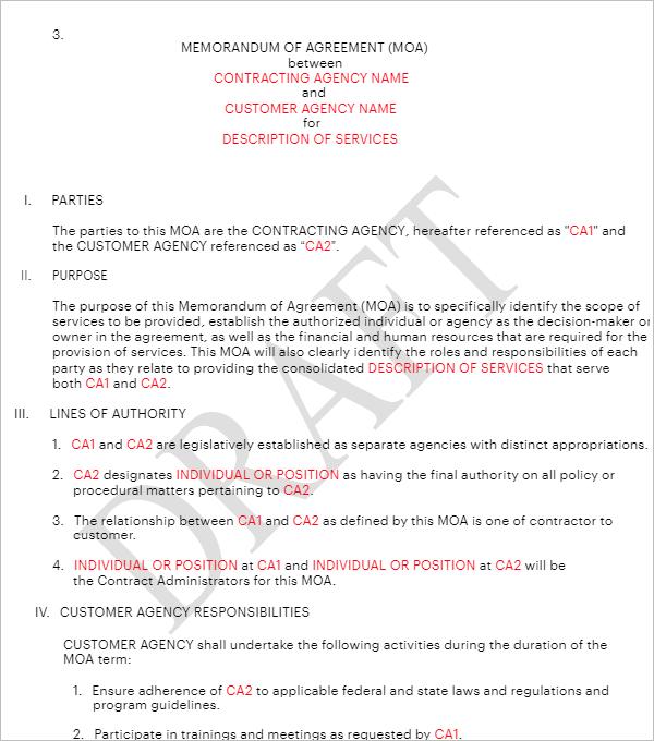 Agency Memorandum Template