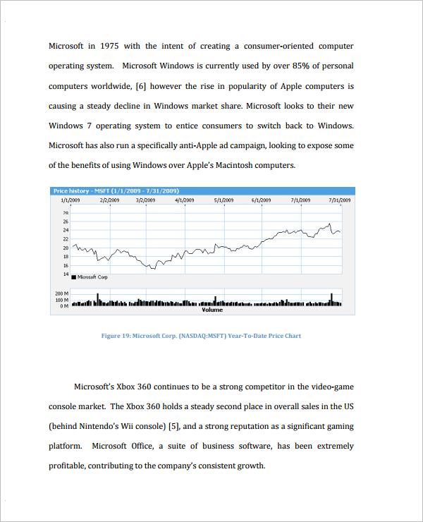 Analysis Document For Stock Market