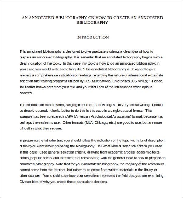 Annotated Bibliography PDF Template