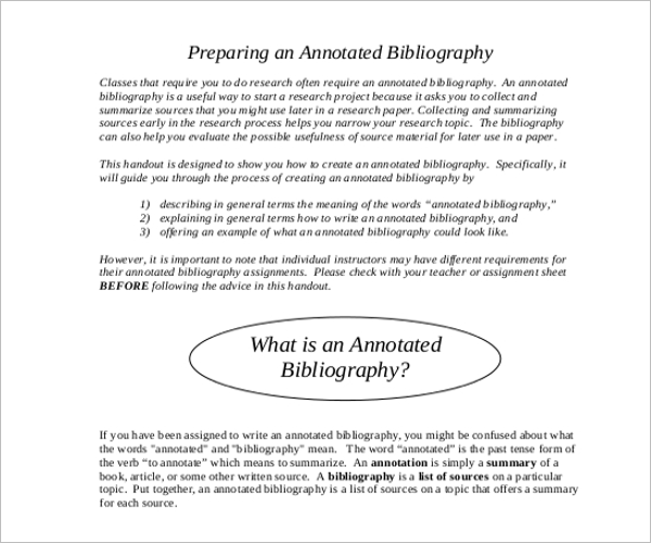 Annotated Bibliography Reference Generator