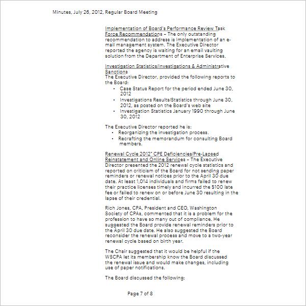 Annual General Meeting Agenda Template