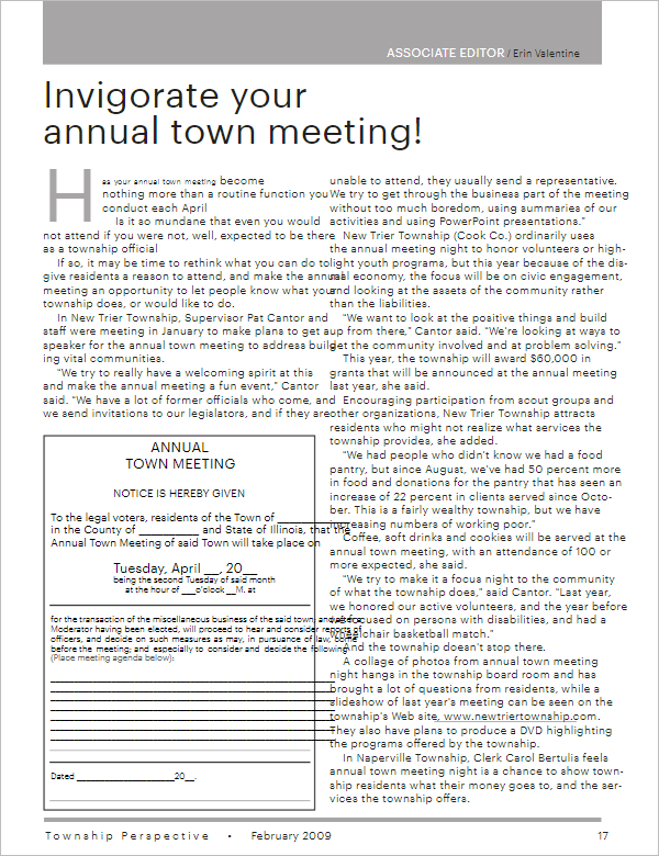 Annual Meeting Agenda Example