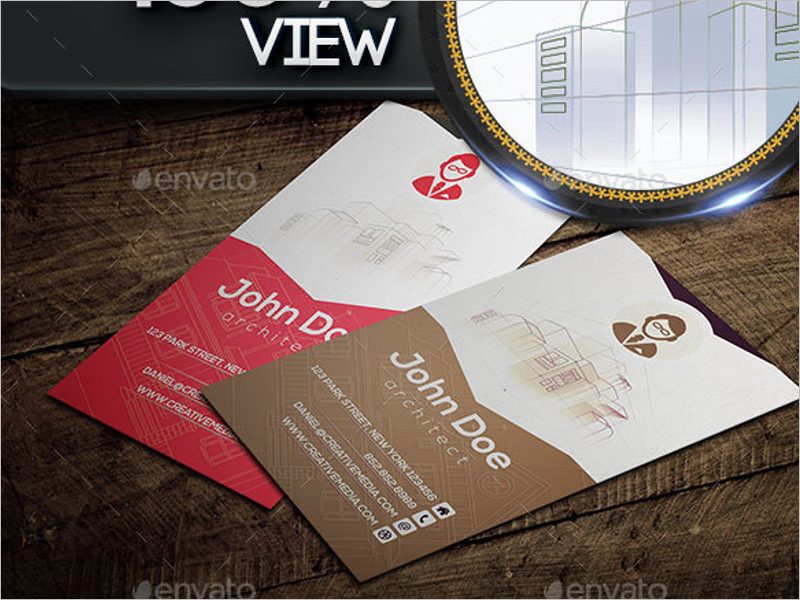 Architecture Business Card  Design Template