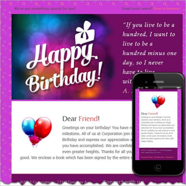 Best Birthday Email Icon Design