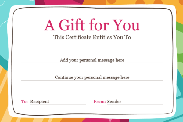 Birthday Certificate Form Template