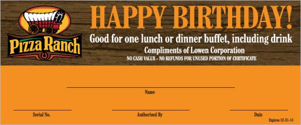 Birthday Certificate Online Template