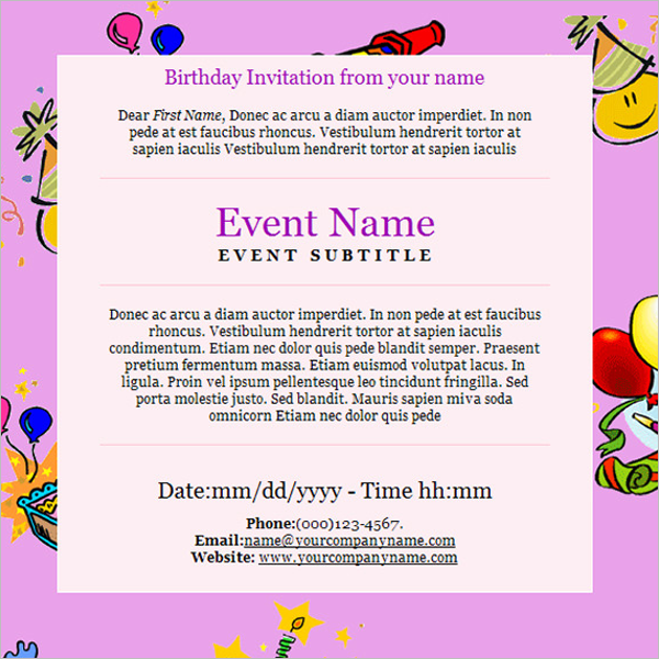 Birthday Party Email To Employees
