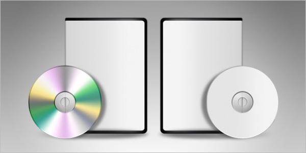 Blank DVD Case Template