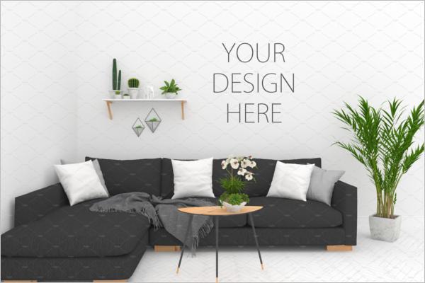 Blank Wall Mockup Design
