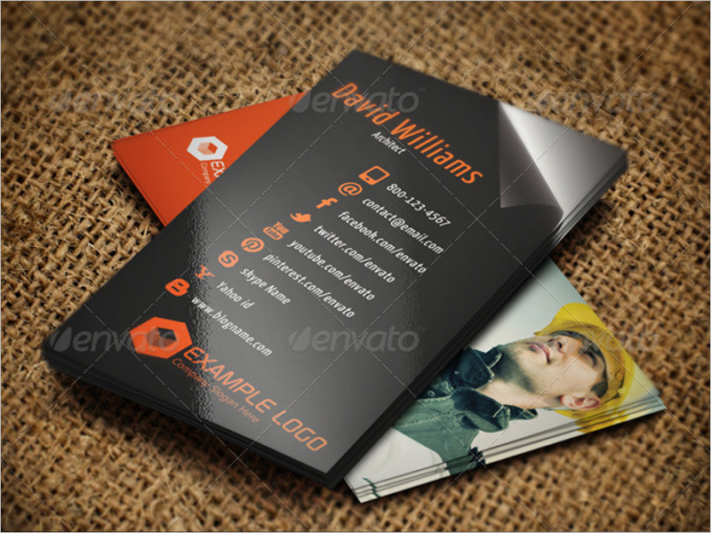 Building Architect Business Card  Design