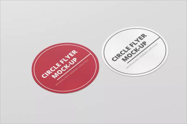 Circle Flyer Mockup Design