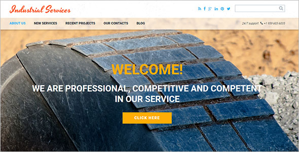 Civil Engineering Drupal Template