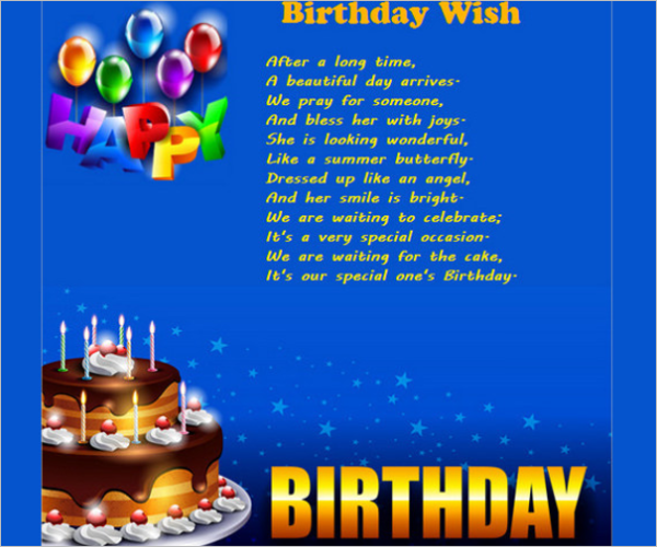 Clean Birthday Email Template
