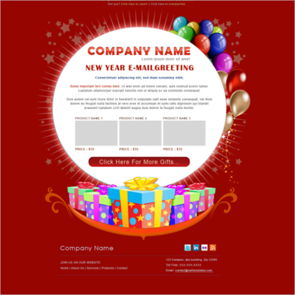 Colorful Birthday Email Template