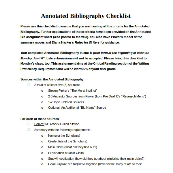 Creative Annotated Bibliography Format Generator