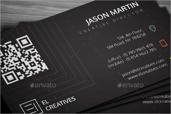 Creative Black Business Card Template