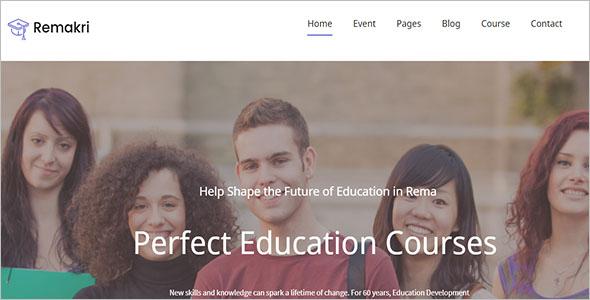 Creative Education Course Drupal 8 Theme