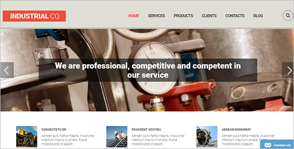 Creative Industrial Drupal Template