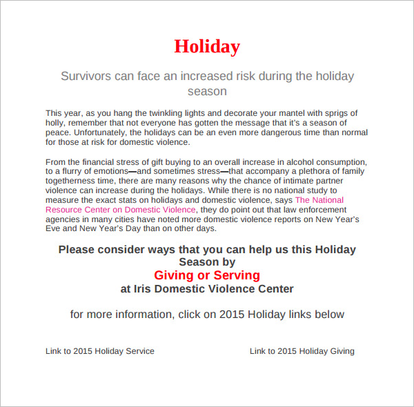 Download Holiday Memo Template