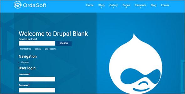 Drupal Blank Theme Example