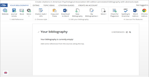 Editable Annotated Bibliography Maker