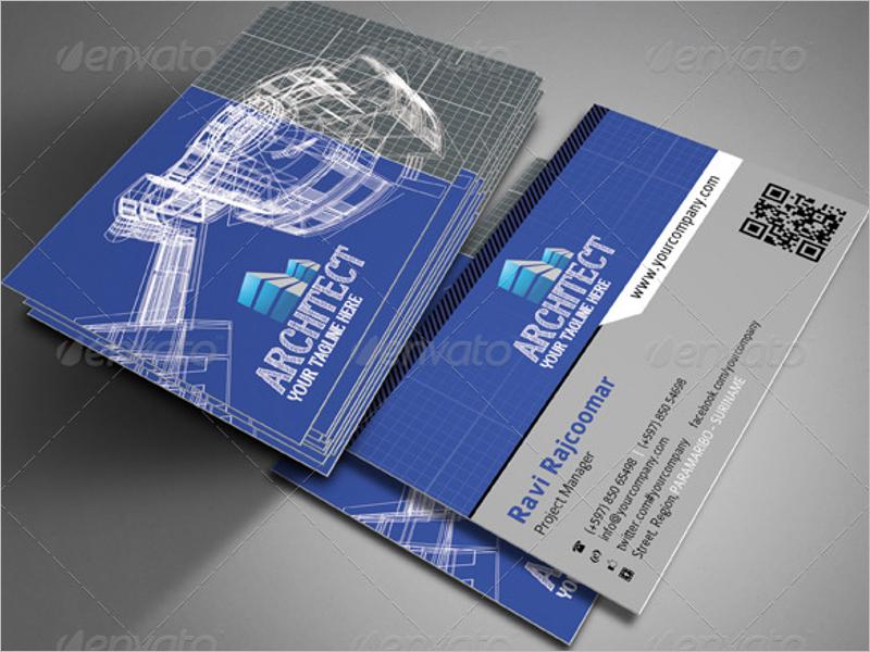 Editable Architect Business Card Design