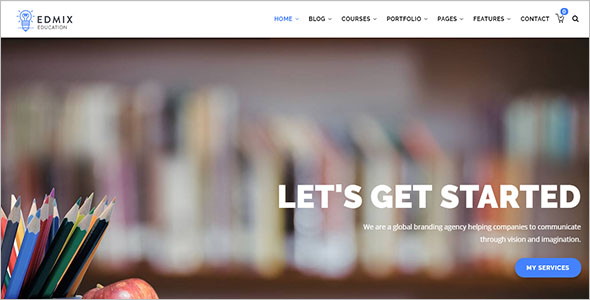 Education Courses Online Drupal Theme Example