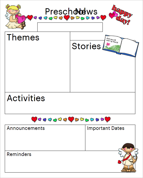19+ Preschool Newsletter Templates Free Word Samples