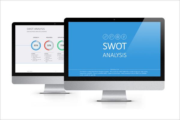 Flat SWOT Analysis Template