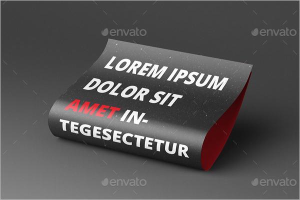 Folded Flyer Mockup Template