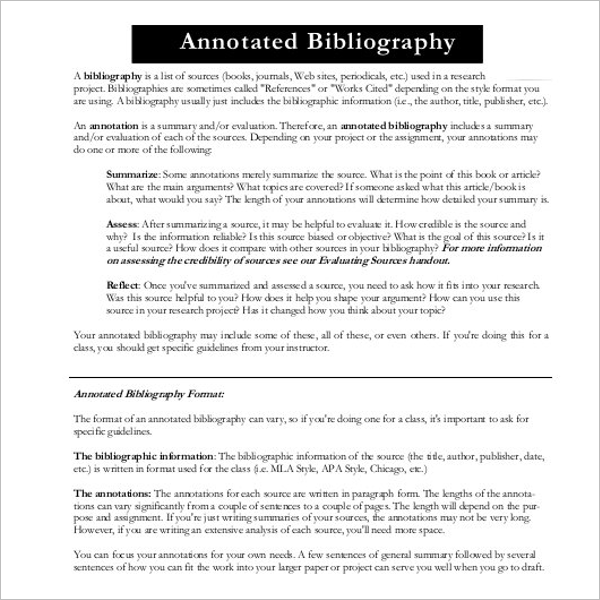 Free Annotated Bibliography PPT Template
