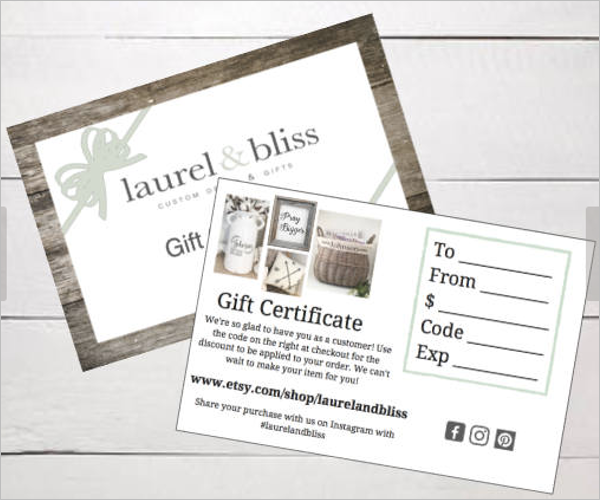 Free Birthday Gift Certificate Template Download