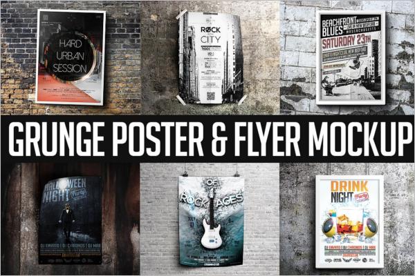 Grunge Flyer Mockup Design