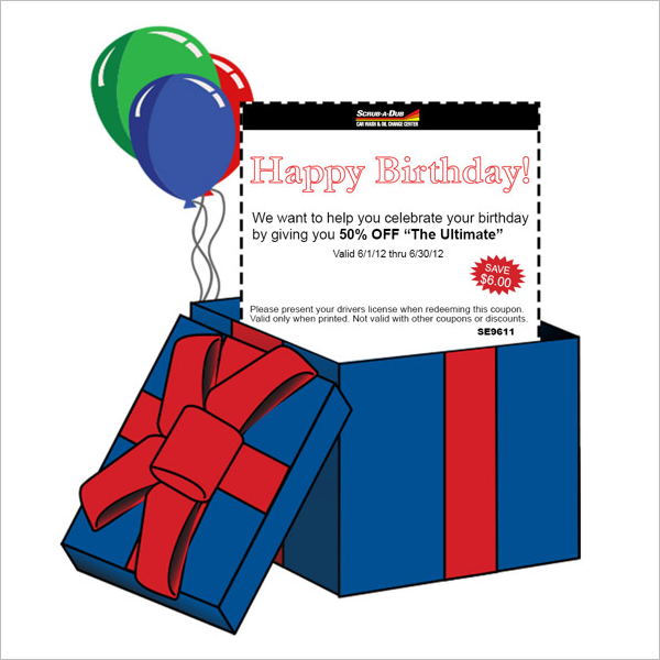 Happy Birthday Email Card Template