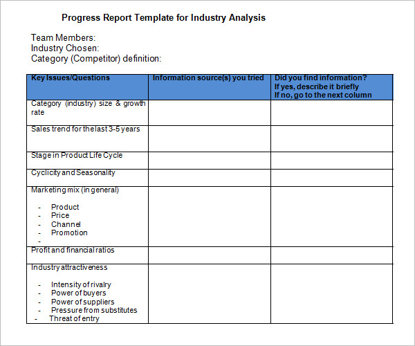 Industry Analysis Template Business Plan