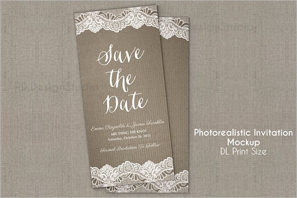Invitation Flyer Mockup Design