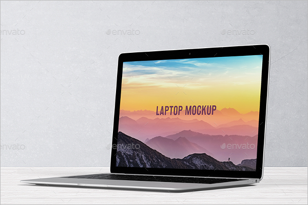 Laptop Skin Mockup Design