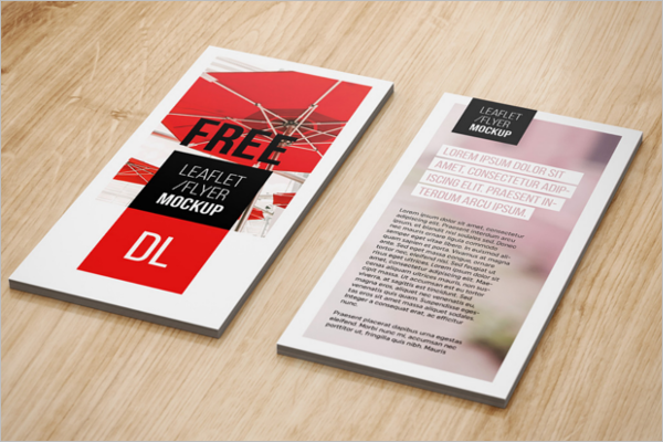 Leaflet Flyer Mockup Download