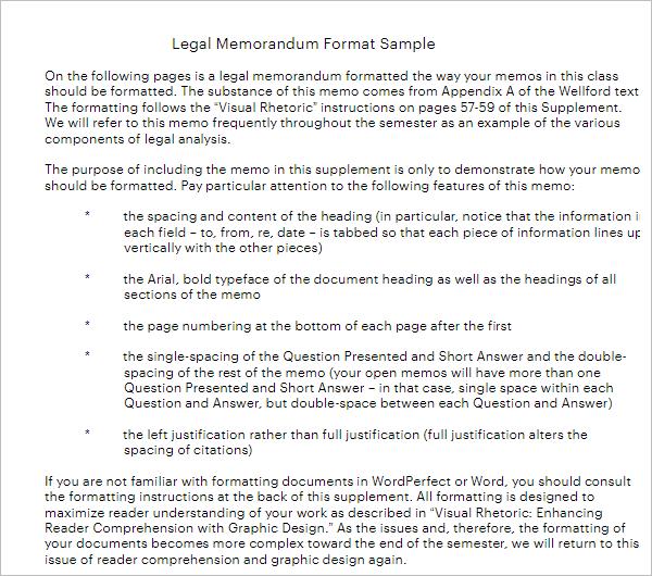 Legal Memorandum Template