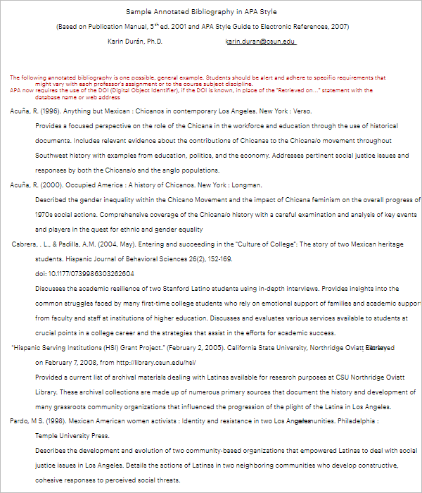 MLA Annotated Bibliography Example PDF