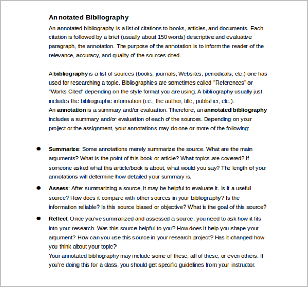 MLA Annotated Bibliography Word Template