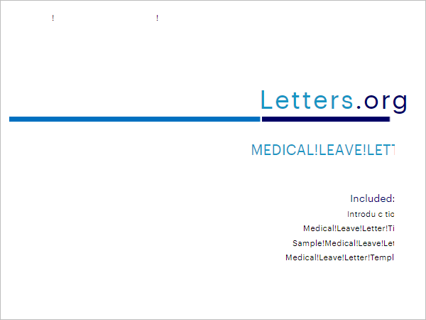 Medical Check Up Leave Letter Template