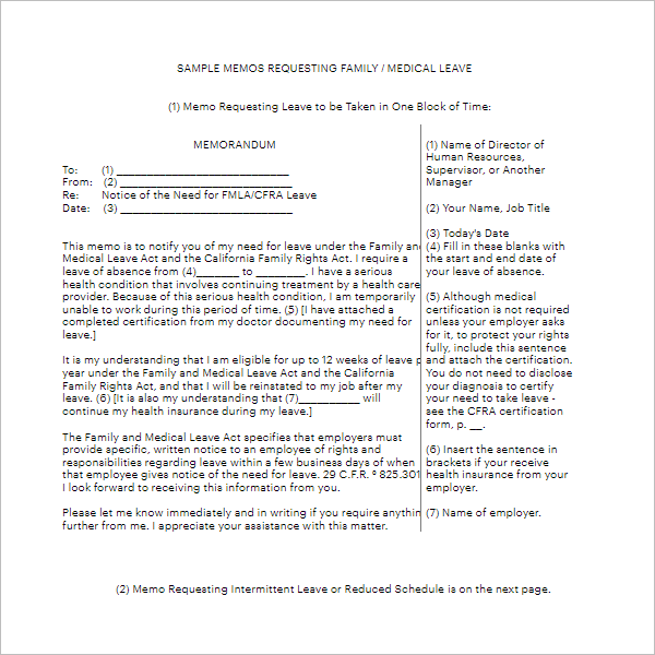 Medical Leave Request Letter Template