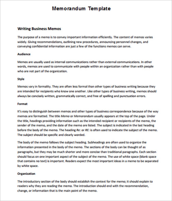 Offering Memorandum PDF Template