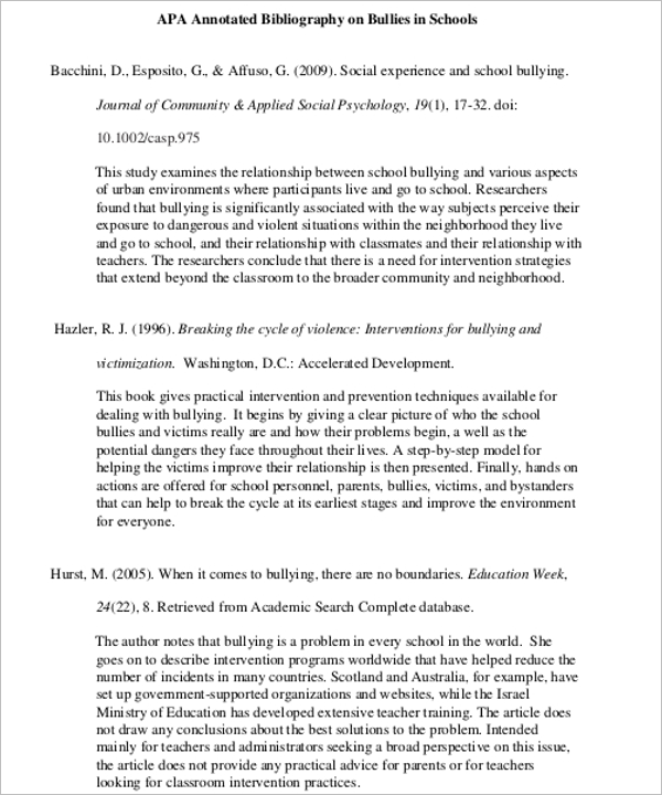 PPT For Annotated Bibliography Template