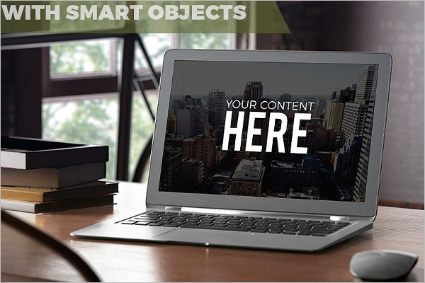PSD Laptop Screen Mockup Design