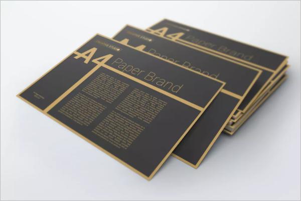 Paper Flyer Mockup Design