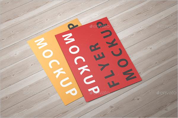Paper Flyer Mockup Template